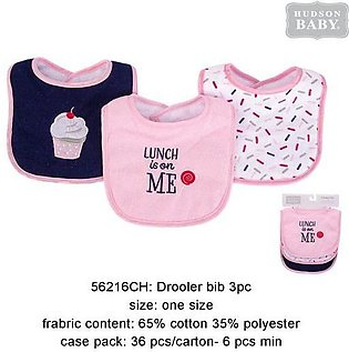 Hudson Baby Bibs Pack Of 3 Lunch Is On Me