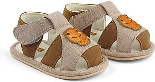 Baby Bubble Sandal Frog Brown