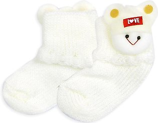 Little Sparks Baby Socks Love White