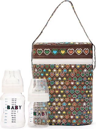 Little Sparks Baby Feeder Warmer with 2 Feeder Brown