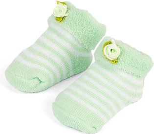 Little One Baby Bottie Flower Lines Green