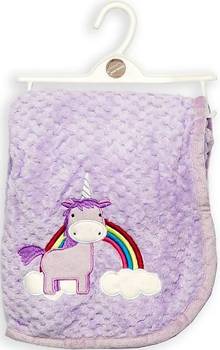 Cuby Baby Blanket Unicorn Purple