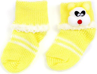 Little Sparks Baby Socks Bear Yellow