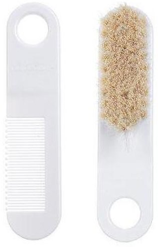 Canpol Babies Baby Brush And Comb With Soft Natural Bristles White
