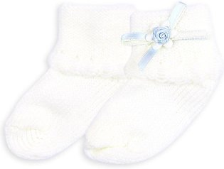 Little Sparks Baby Socks Ribbon Blue