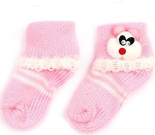 Little Sparks Baby Socks Bear Pink