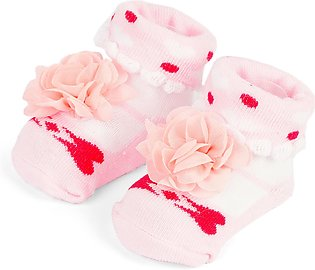Little One Baby Bottie Flower Lite Pink & White
