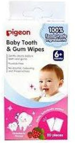 PIGEON BABY TOOTH & GUM WIPES STRAWBERRY