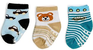 Little Sparks Baby Socks Pack Of 3 Multi Black