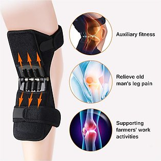 2 Pcs Power Knee Joint Support Pad with Spring