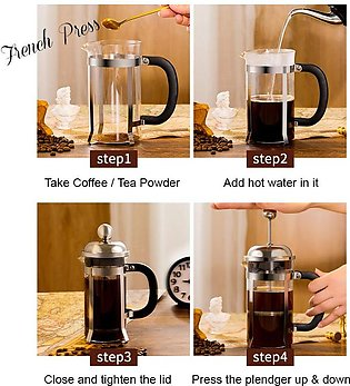 Pack of 7 - 6 cups & 1 Plunger - 0.8 liter