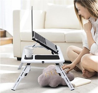 E-Table Flexible Portable Laptop Table with 2 Cooling Fans