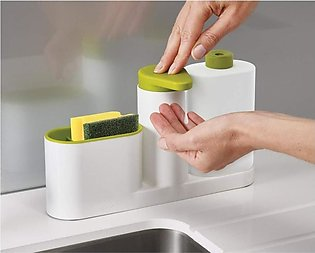 Soap Dispenser with Sink Storage Organiser Sink Tidy Sey Plus with 3 Compartmen…
