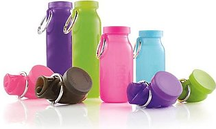 500ML Silicone Collapsible Water Bottles Travel Sport Silicon Portable Foldable…