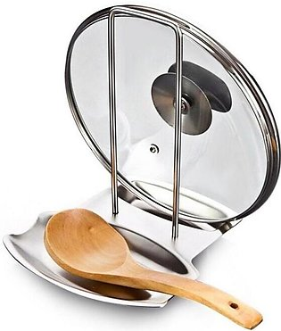 Stainless Steel Spoon and Pot Lid Rack Holder