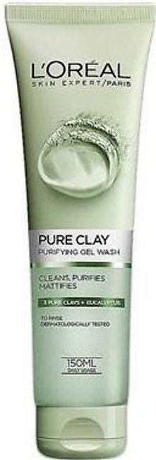 L'Oreal Paris- Pure Clay Eucalyptus Purifying Face Wash- Green 150ML