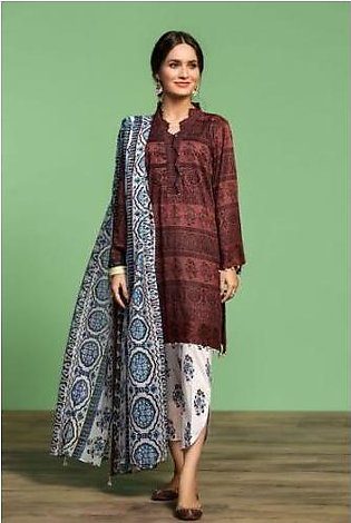 Nishat Linen- 42001049-Printed Lawn, Cambric & Voil 3PC