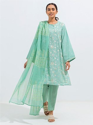 Embroidered Shirt With Dupatta
