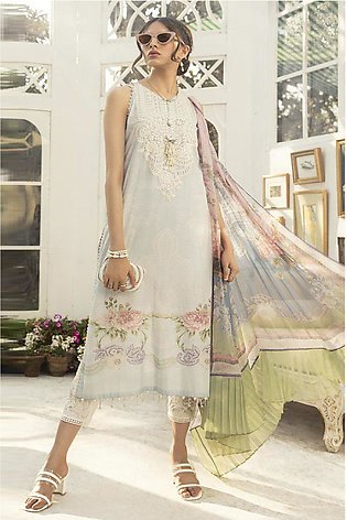 Maria B Embroidered  Linen -GA7063