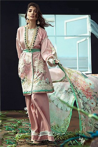Firdous Embroidered Lawn - ZF3010