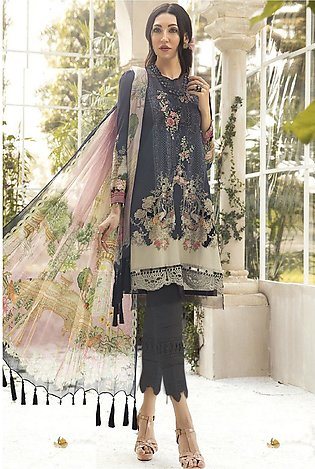 Maria B Embroidered   linen -GA1118