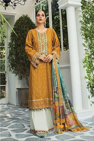 Maria B Embroidered  Linen 3PC -GA7077