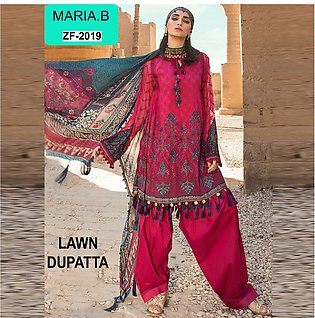 Maria-B Lawn 3PC Embroidered Suit -ZF2019