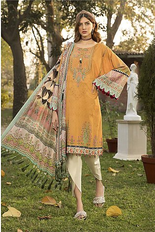 Maria B Embroidered Lawn-GA1018