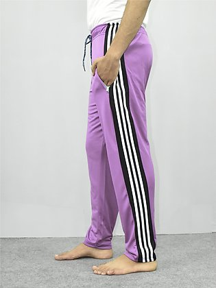 ADS Sports Trouser For Men-Pink With Black & White Stripes-SP4884