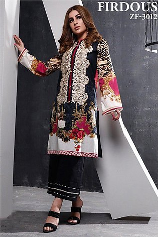 Firdous Embroidered Lawn - ZF3012
