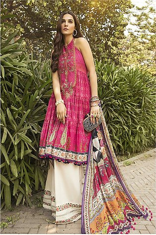 Maria B Embroidered Linen-GA7018