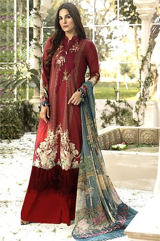 Maria B Embroidered   linen -GA1117