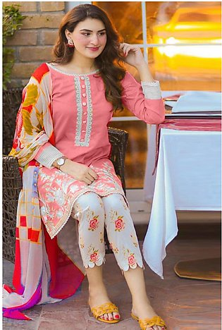Maria B Embroidered  Linen -GA7067