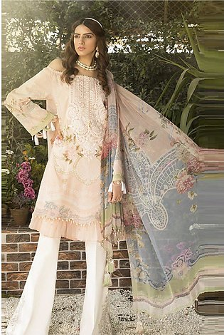 Maria B Embroidered  Linen -GA7064