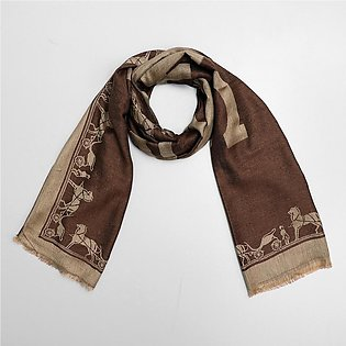 All over Jacquard weaved Monogram Stole (HE-2066)