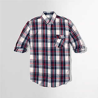 Men Nxt Pure Cotton Long Sleeve Classic Checked Casual Shirt(NE-4631)