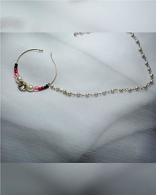nose ring with floweery beads