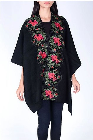LACE BORDER WARM CAPE