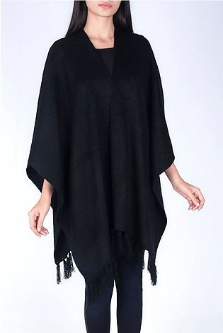 LACE PATCH CAPE WARM
