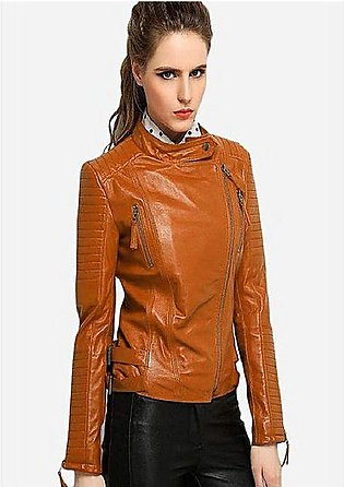 PU Leather Jacket For Women MW1314