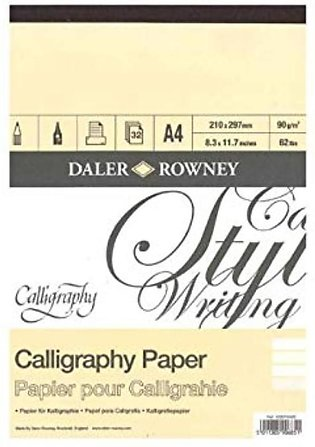 Daler Rowney Calligraphy Sketch Book A4