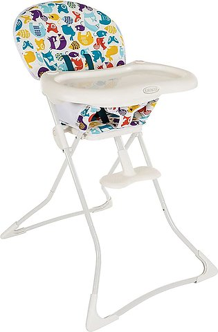 Graco Tea Time Folding High Chair with Colourful Design