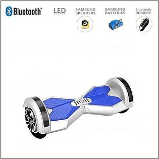 White – Smart Electric Self Balance Scooter With Bluetooth/High Tech Speakers