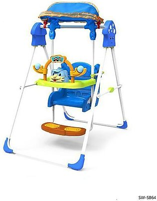 Baby Swing with Shade – Blue