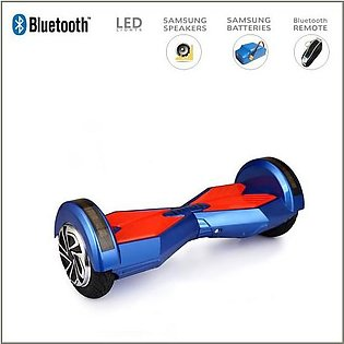 Blue – Smart Electric Self Balance Scooter With Bluetooth/High Tech Speakers