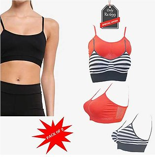 Pack of 2 Sports Bras  Red and Black