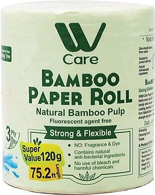 WBM CARE BAMBOO PAPER ROLL TISSUE 3PLY