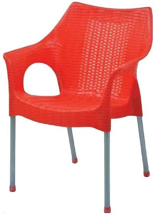Rattan Plastic Chairs Red