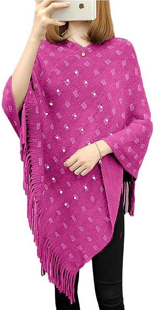 Women's Pink And White Cape Shawls