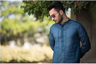 Navy Blue Kurta Shalwar For Men